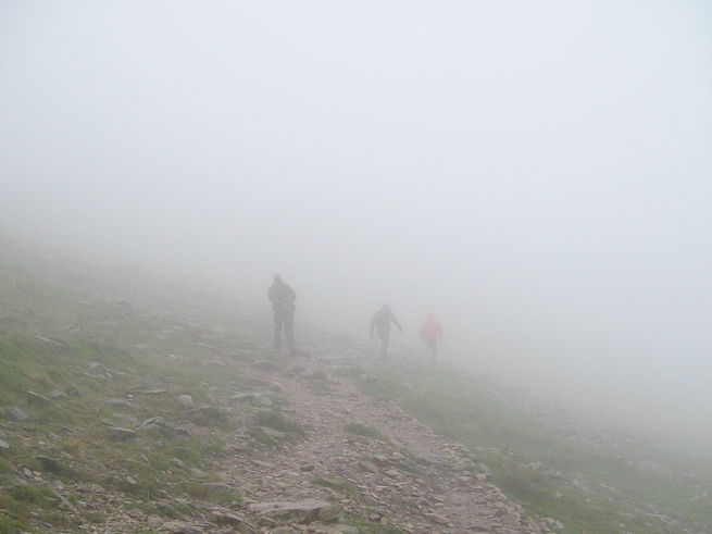 Misty conditions in the UK hills