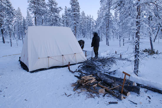 Winter Camping in the Boreal Forest.