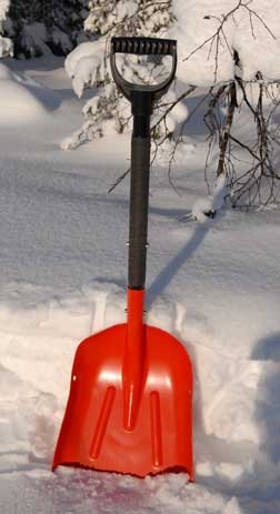 Snow Shovel - a much under-rated tool of the north.