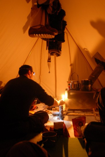 Heated Tent Interior