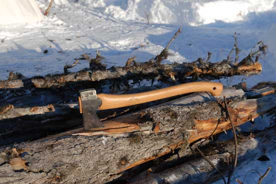 An Axe: the most important tool of the northern forest.