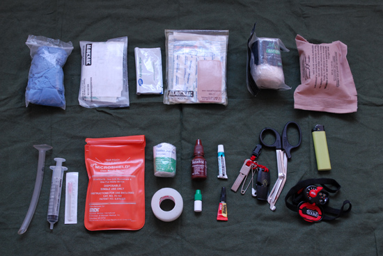 Paul Kirtley's Personal Wilderness First Aid Kit