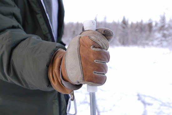 Hestra Falt Guide leather finger glove