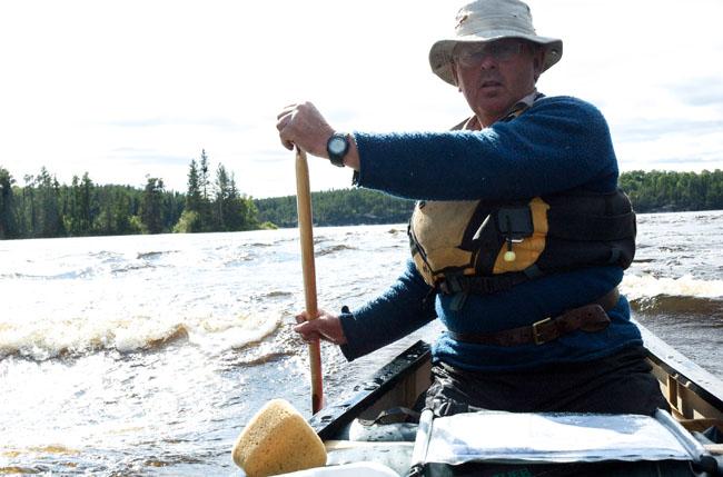 Ray Goodwin paddling wilderness