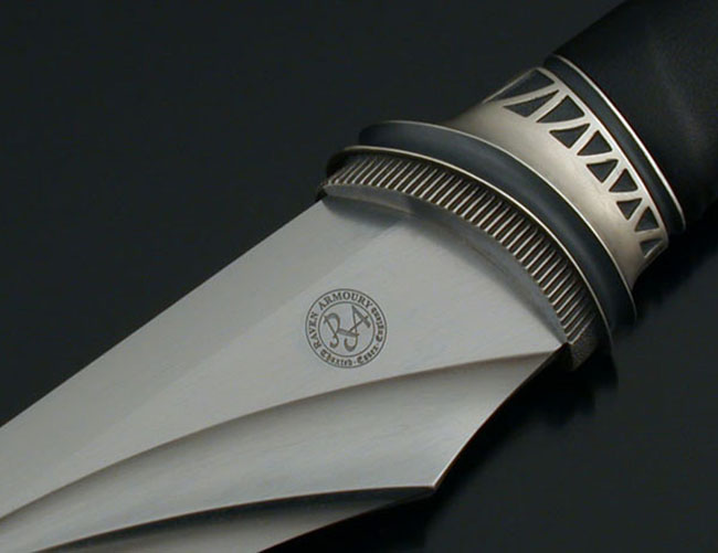 Example of Raven Logo on sword