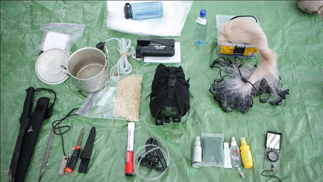 Alone in the Wild Belize Survival Kit Items