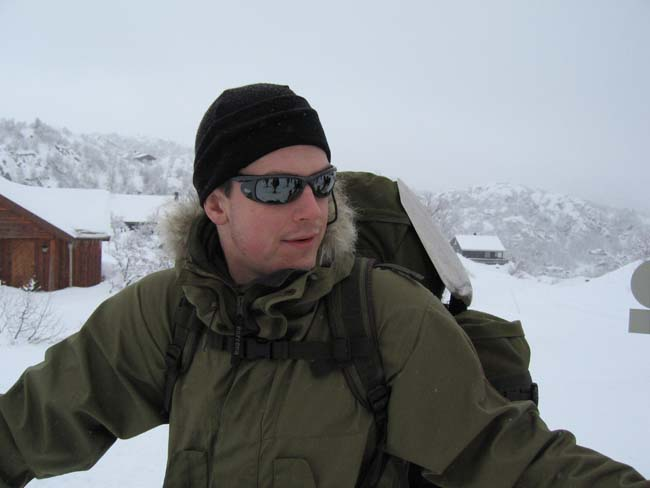 Paul Kirtley about to embark on a Nordic ski tour.