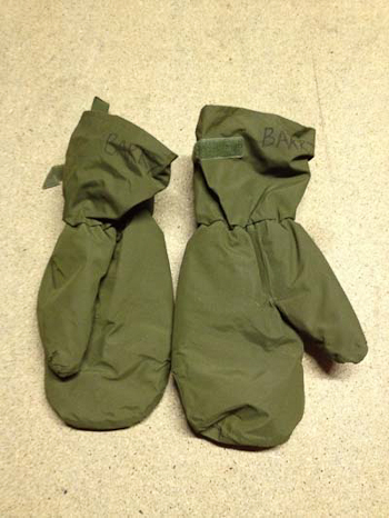 British army Gore tex mitts