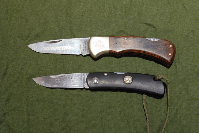 Fallkniven TK4 and Winchester lock knife