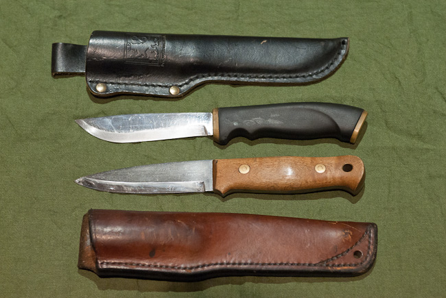 Normark Knife and Alan Wood Woodlore Knife