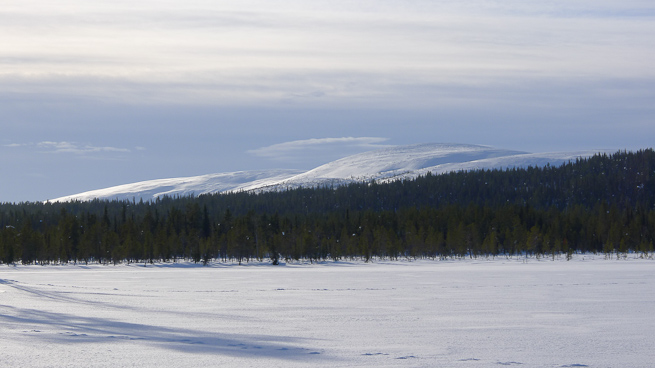 Snow covered mountain in Sweden
