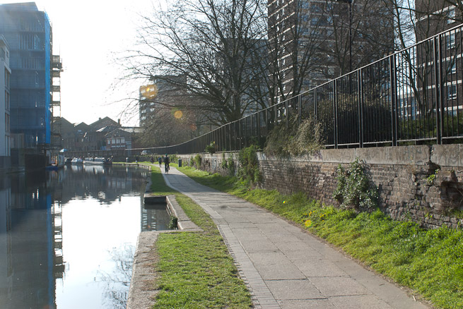 Canal towpath, London
