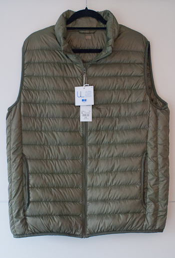 Brand new ULD gilet from UNIQLO