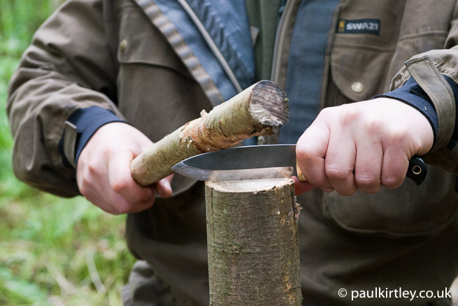 Batoning with a bushcraft knife