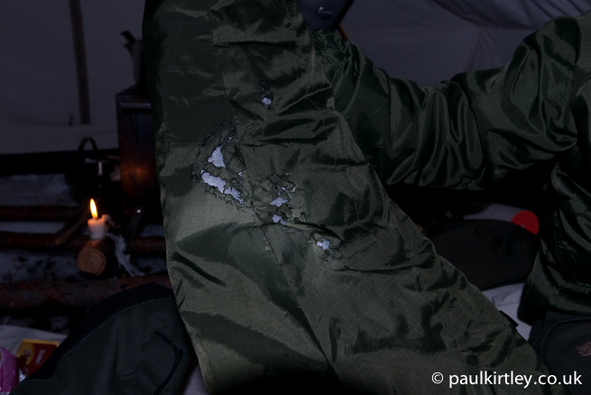 Melted nylon jacket