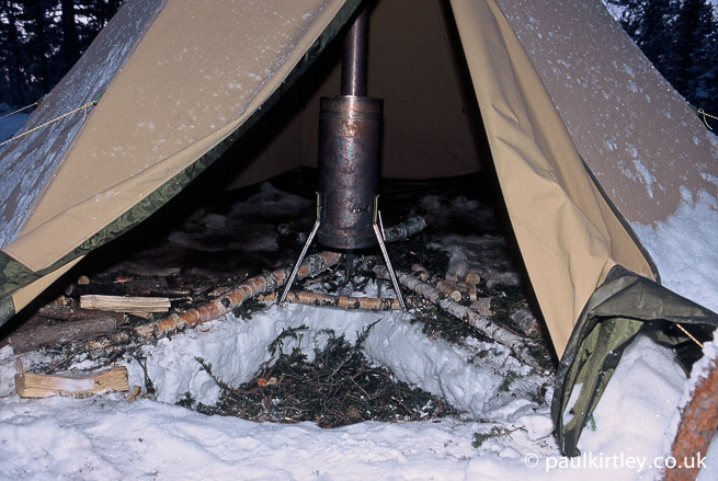 Cold well in Tentipi & How To Live In A Heated Tent