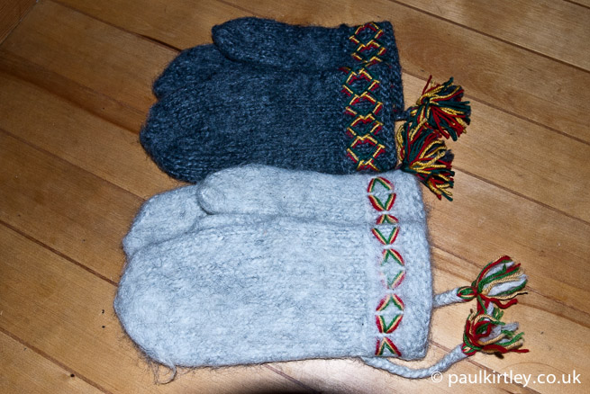 Two pairs of Lovikka mittens
