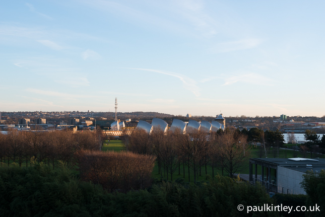 Thames Barrier Park from Pontoon Dock DLR station