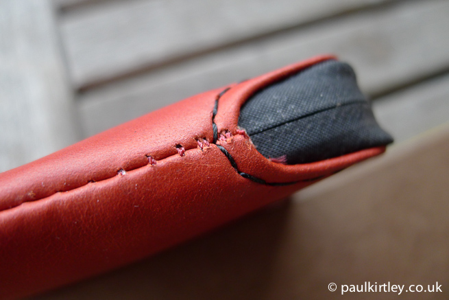 Bellroy protective wallet stitching detail