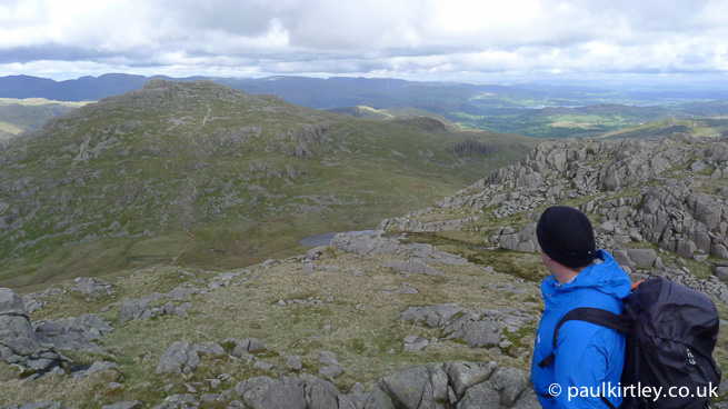 Man overlooking Lakeland Fells