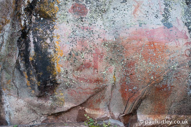 The Bloodvein River Shaman at the Artery Lake rock art site of pictographs