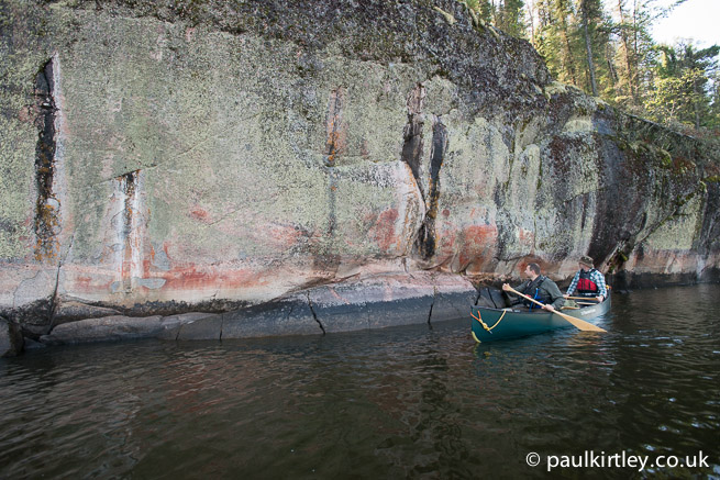 Artery Lake pictographs or rock art