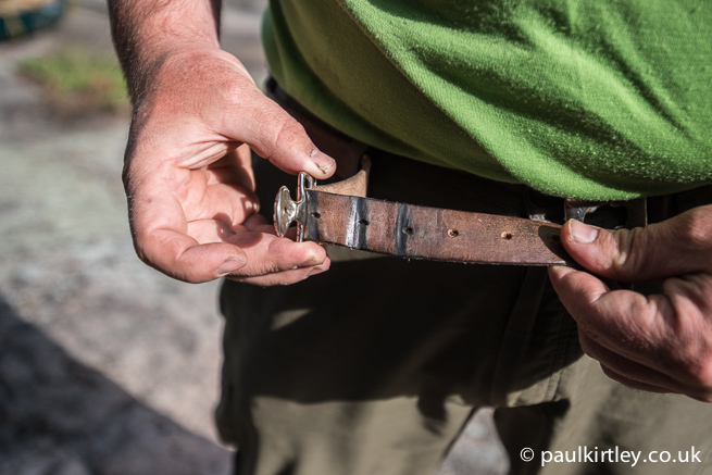 Well worn Scout Assoiciation belt