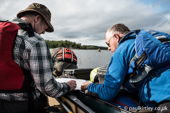 Ray and TC checking map in canoe