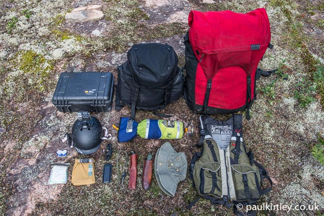 portage pack, day bag, camera case and other on-person items