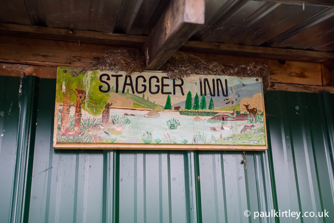 stagger inn name plate board