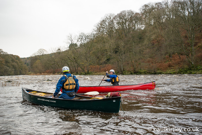 Two canoeists at the English Canoe Symposium