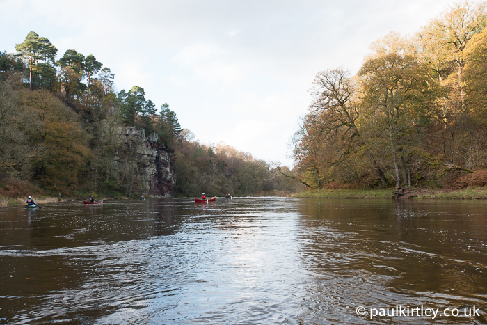 River Eden landscape with canoeists