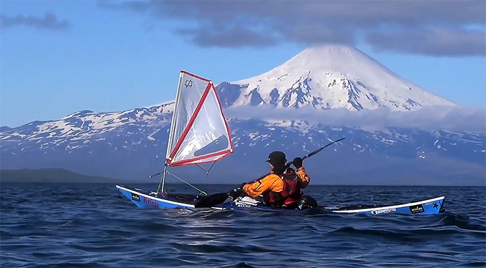 Kayak in the Aleutian Islands