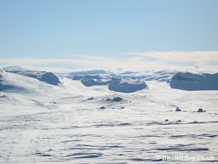 view on a fine day on the Hardangervidder or Hardanger plateau