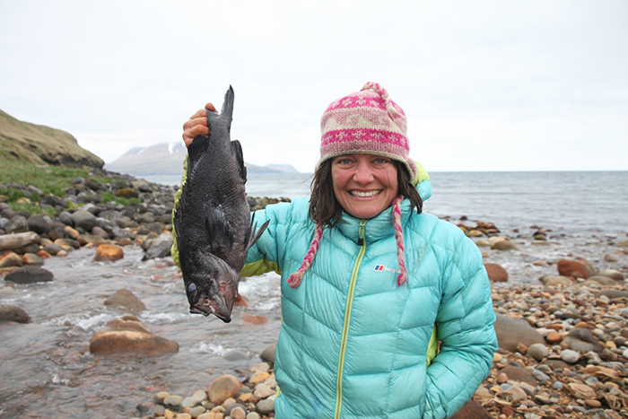 Justine Curgenven with a fish