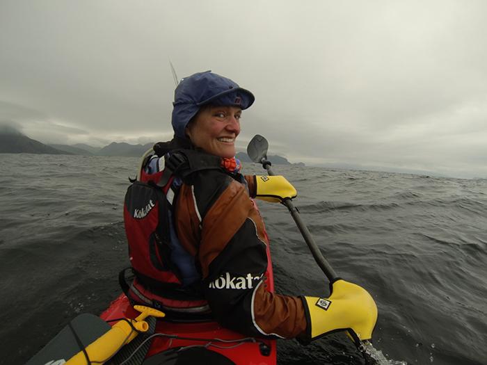 Justin Curgenven paddling Aleutians