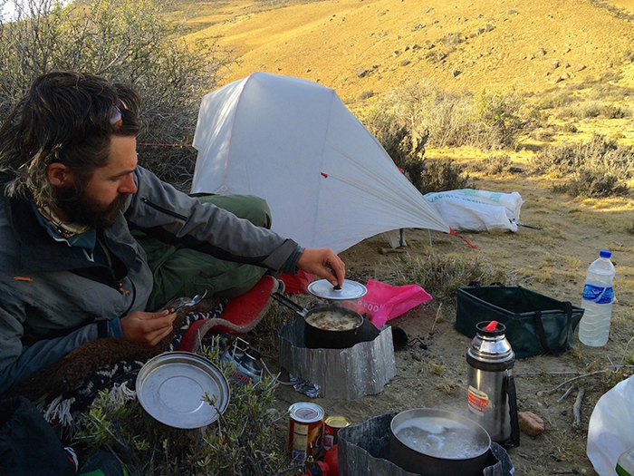 Tom Allen and Leon McCarron wild camping in Patagonia