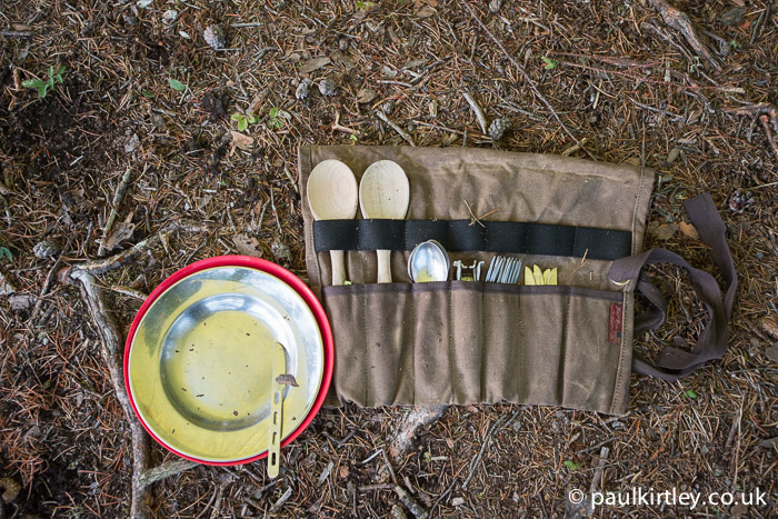 Frost River Utility Roll and contents during Bloodvein River trip