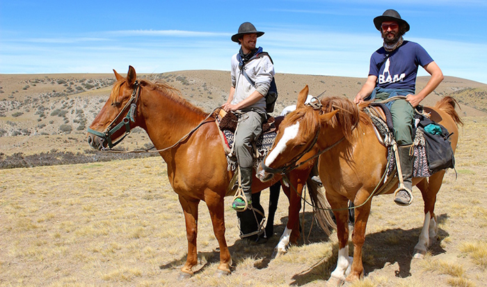 Tom Allen and Leon McCarron in Patagonia on horseback