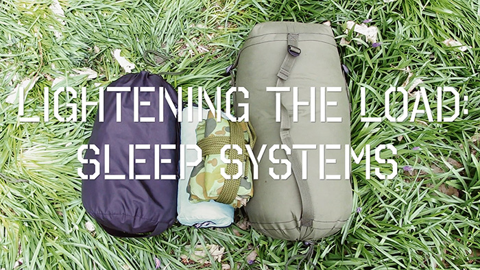 Lightening the load - sleep systems front cover photo