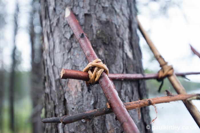 Spruce binding detail. Photo: Paul Kirtley.