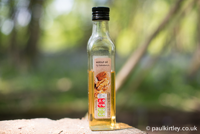 A bottle of walnut oil