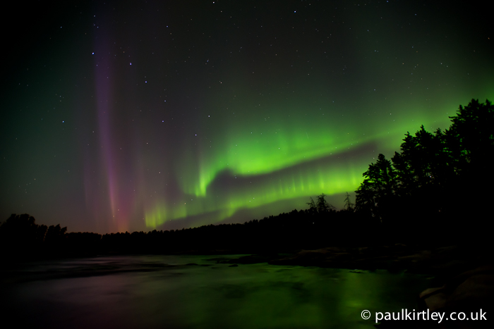 Aurora over the Bloodvein River