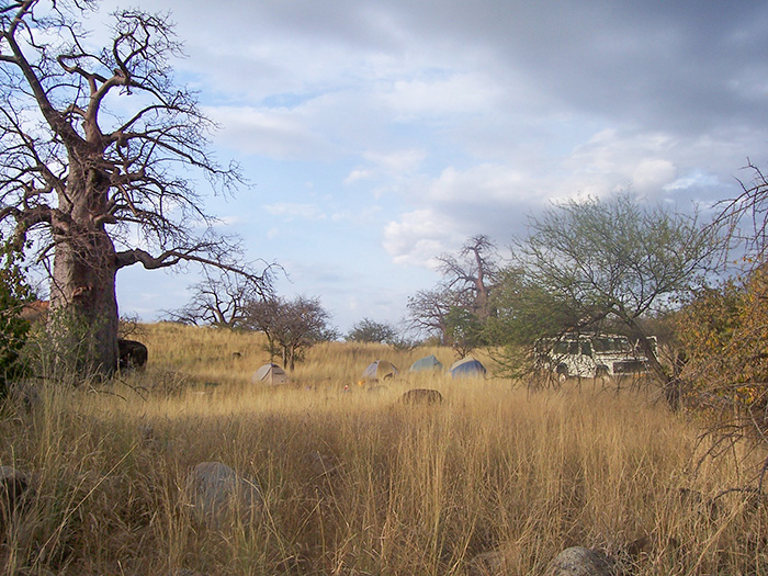 Camp in Tanzania for anthropology field work