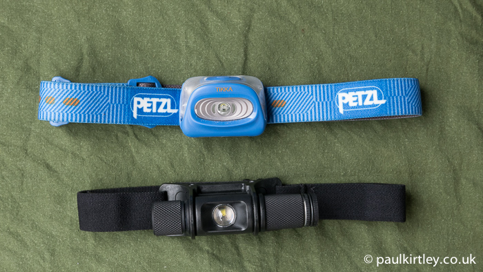 Petzl Tikka and Surefire Minimus