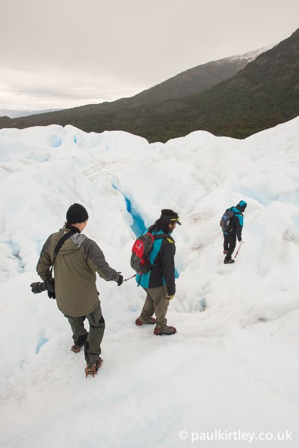 Perito Moreno guides leading at the front of the group