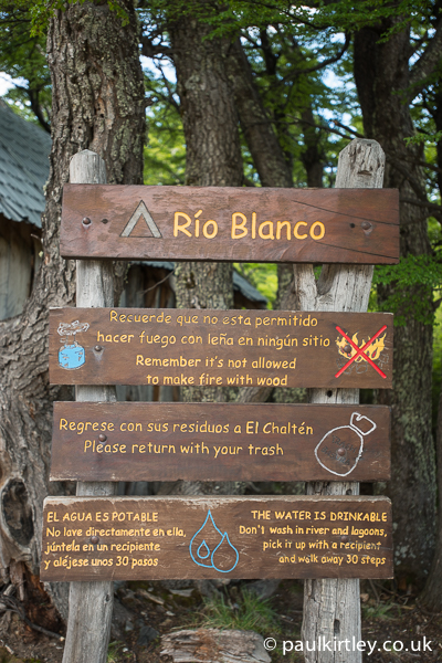 Rio Blanco camp sign