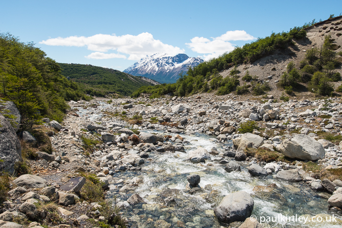 Trail down the western side of the Rio Blanco, Santa Cruz, Argentina