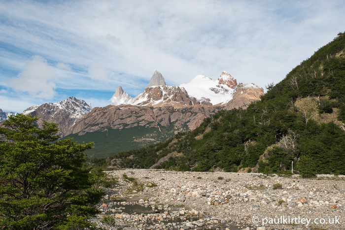 Mount Fitz Roy From Rio Blanco, Santa Cruz, Argentina