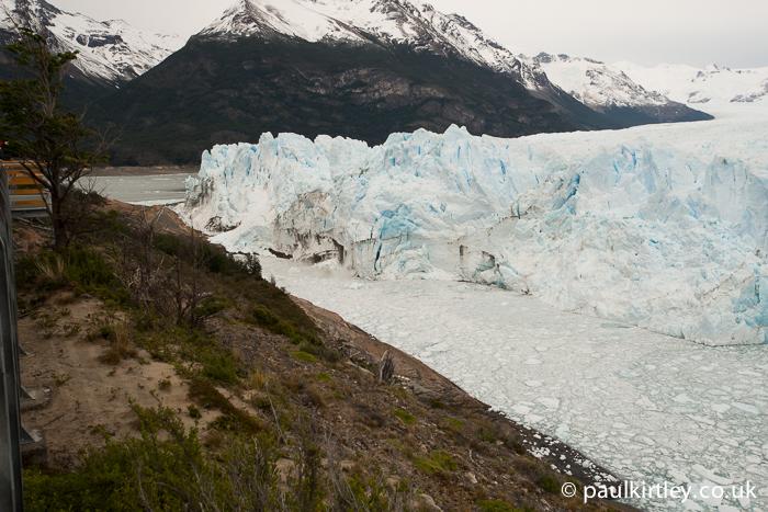Where Perito Moreno splits Lake Argentino